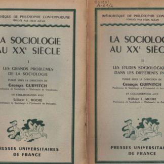 La Sociologie au XX Siecle 2 VOLUMI