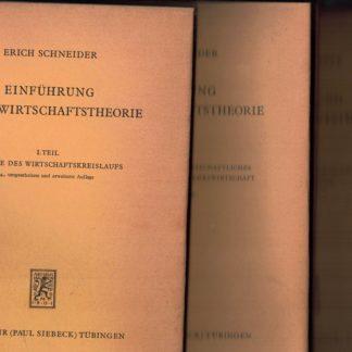 Einfuhrung in die wirtschaftstheorie 3 volumi (tedesco)