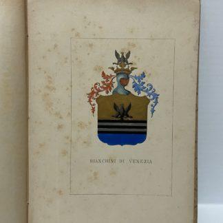 Stemma nobiliare famiglia Bianchini di Venezia Araldica