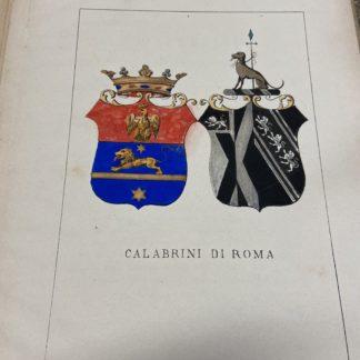 Stemma nobiliare famiglia Calabrini di Roma Araldica