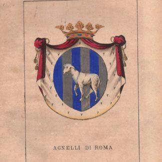 Stemma nobiliare famiglia AGNELLI di MANTOVA trasferitasi a Roma