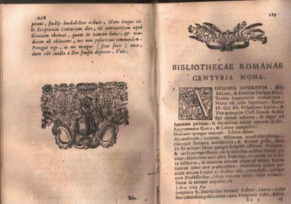 Bibliotheca Romana seu romanorum scriptorum centuriae.Volumen secundum.